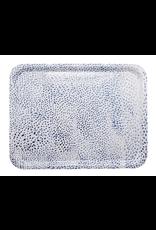 Mariposa Ary Home Blue Dot Rectangular Tray w Melamine Top Coat