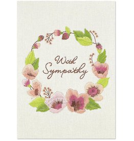 PAPYRUS® Sympathy Card Embroidered Wreath With Sympathy