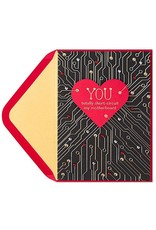 PAPYRUS® Valentine's Day Cards Heart Motherboard Circuits
