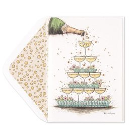PAPYRUS® Wedding Card Champagne Pyramid Bella Pilar