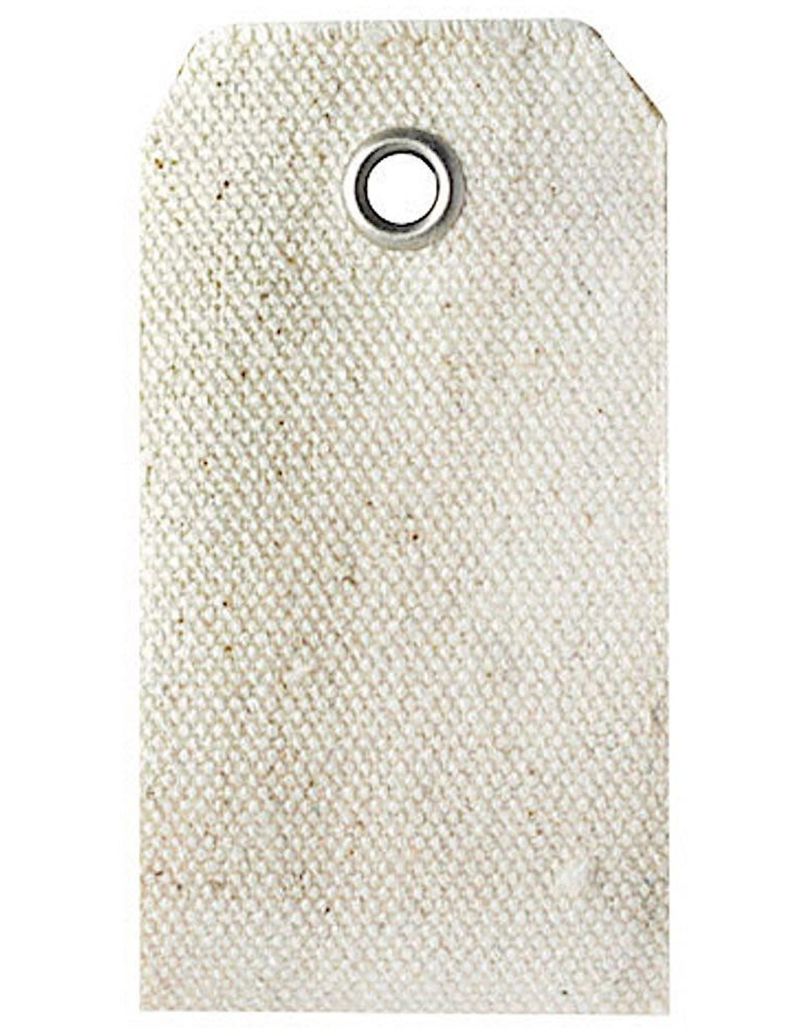 Darice Cotton Canvas Rectangle Tags 1.8x2.75 Inch 15 Pack Natural