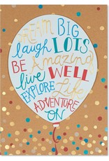 PAPYRUS® Birthday Cards Big Birthday Balloon With Text Sentiments