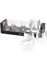 Caspari Acrylic 12oz Tumblers Giftset of 4 Shatter Resistant Clear