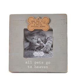 Mud Pie Deceased Pet Frame With ID Tag Hook All Pets Go To Heaven