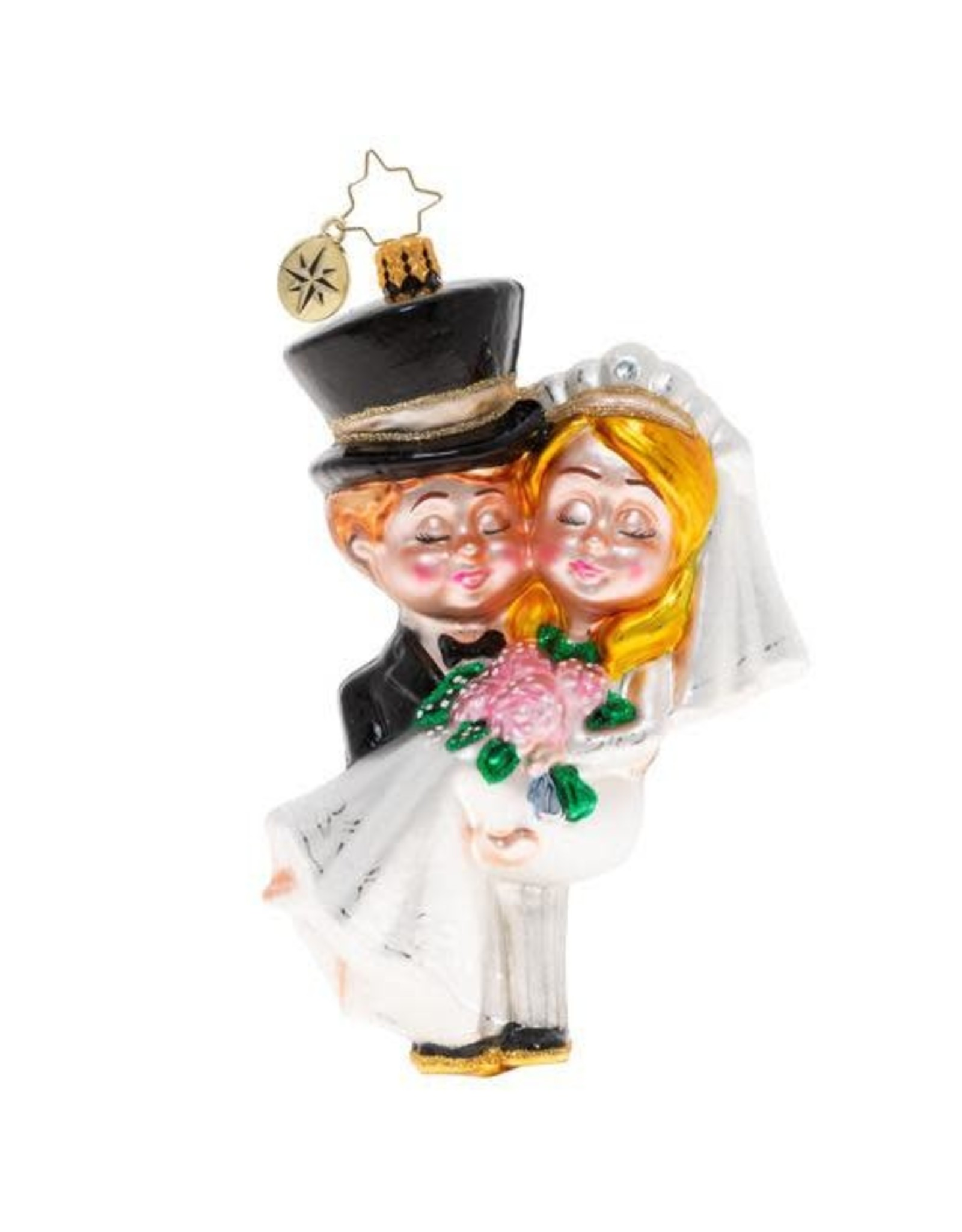 Christopher Radko Married And Bright Wedding Ornament