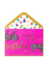 PAPYRUS® Birthday Card Giant Party Quote Live Each Day Like Its Your Birthday