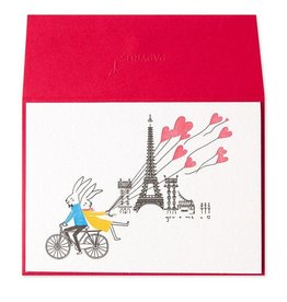 PAPYRUS® Anniversary Card Rabbit Couple On Bike