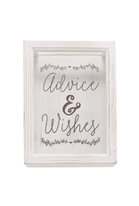 Mud Pie Advise And Wishes Keepsake Box Set With Cards