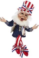 Mark Roberts Fairies Patriotic Elves i Love The USA Elf 11.5 Inch