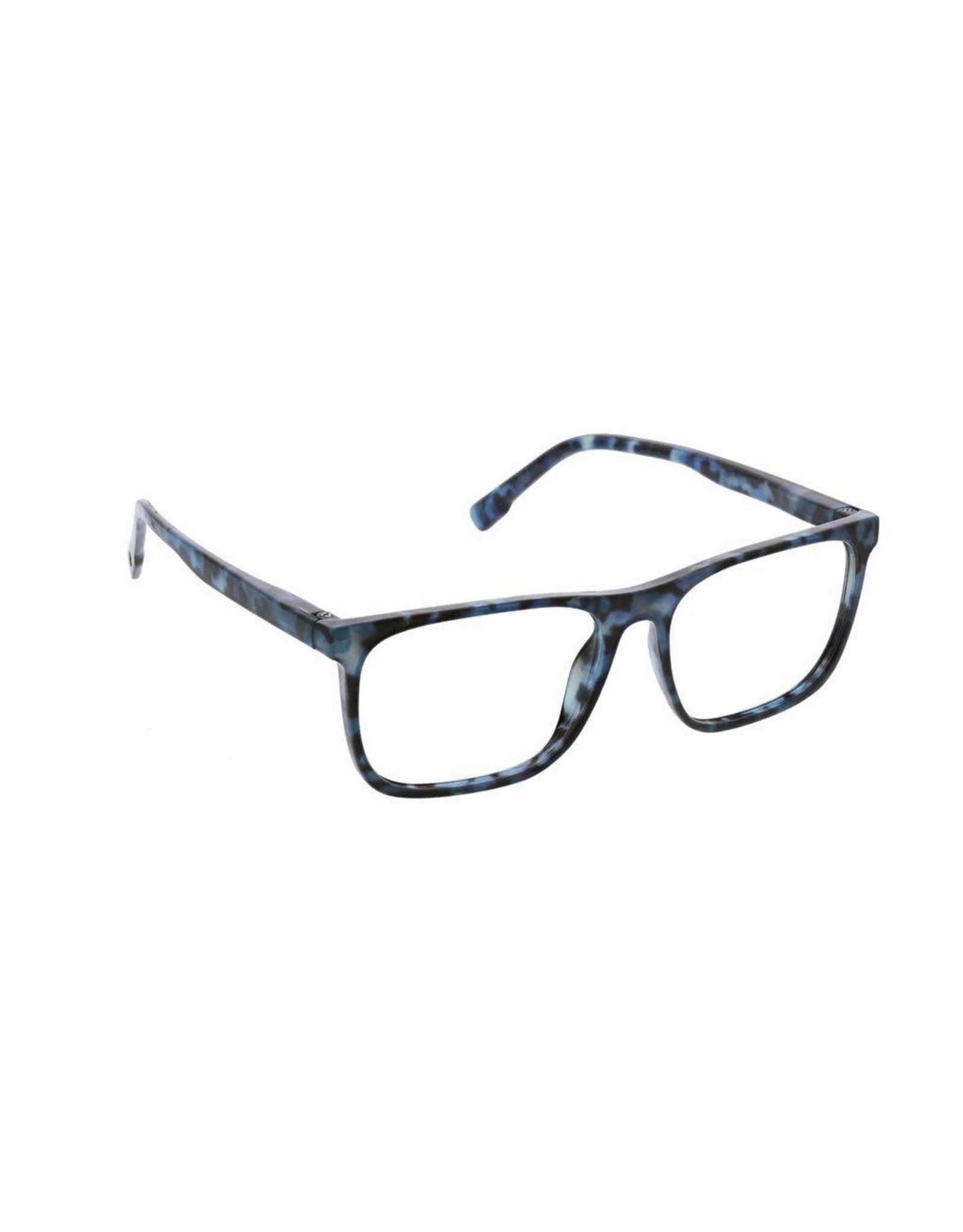 Reading Glasses Highbrow Blue Light Navy Tortoise +2.00