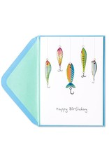 PAPYRUS® Birthday Cards Fish On Hooks Fishing Lures