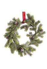 Darice Mini Pinecone Christmas Wreath W Red Ribbon 12 Inch