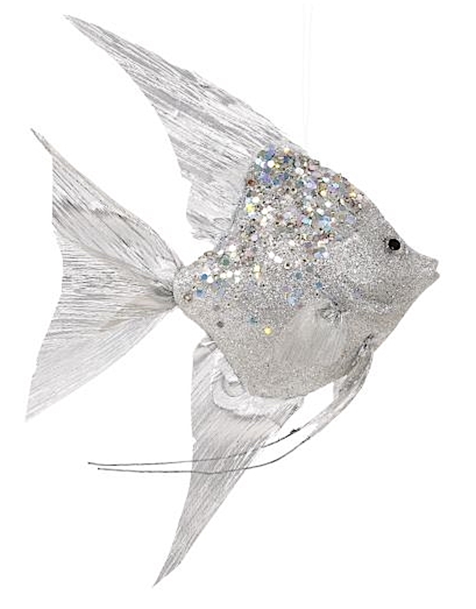 Mark Roberts Angel Fish Ornaments 13x8.5x2.75 Inch Silver