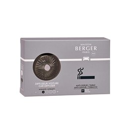 Maison Berger Car Diffuser Kit Vent Clip w Scent Anti-Odor Tobacco