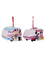 Kurt Adler Campers Camping Christmas Ornaments Set of 2