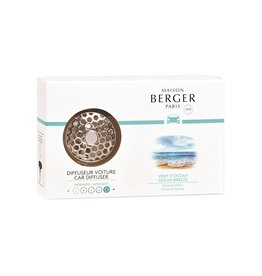 Maison Berger Car Diffuser Kit Vent Clip w Scent Ocean Breeze