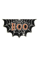 Peking Handicraft Halloween Boo Spider Web Shaped Hook Rug 34x18