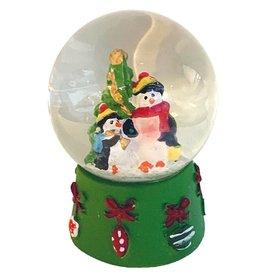 Kurt Adler Mini Christmas Snow Globe Penguins And Christmas Tree