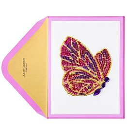 PAPYRUS® Blank Card Gemmed Butterfly | Judith Leiber Couture