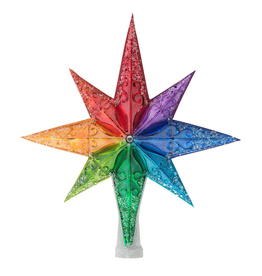 Christopher Radko Christmas Tree Topper Rainbow Stellar Finial