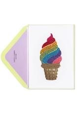 PAPYRUS® Birthday Card Rainbow Ice Cream Cone | Judith Leiber Couture