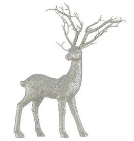 Darice Standing Deer Decoration Silver Glitter 12.5x15 Inch