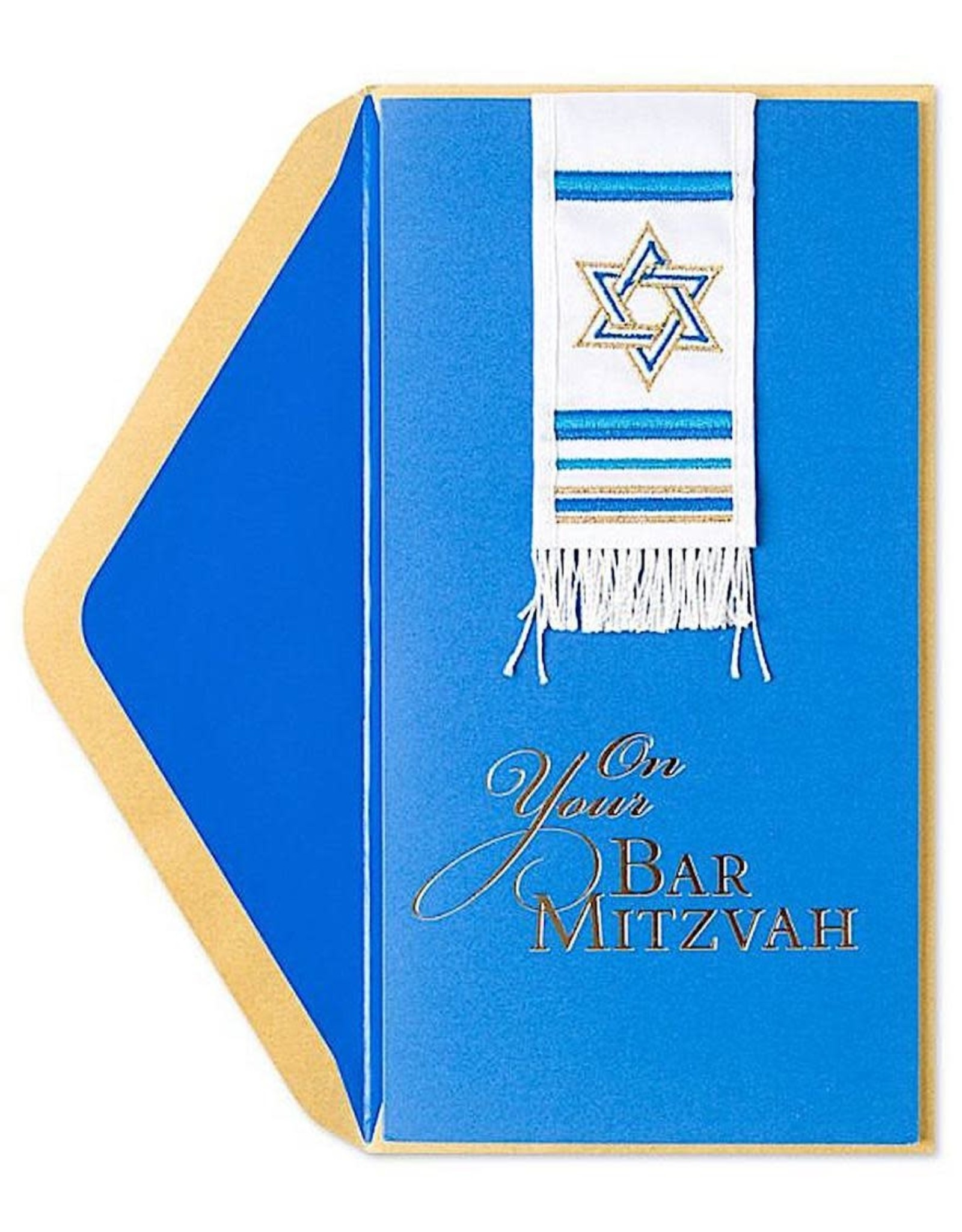 PAPYRUS® Bar Mitzvah Cards Fabric Prayer Shawl