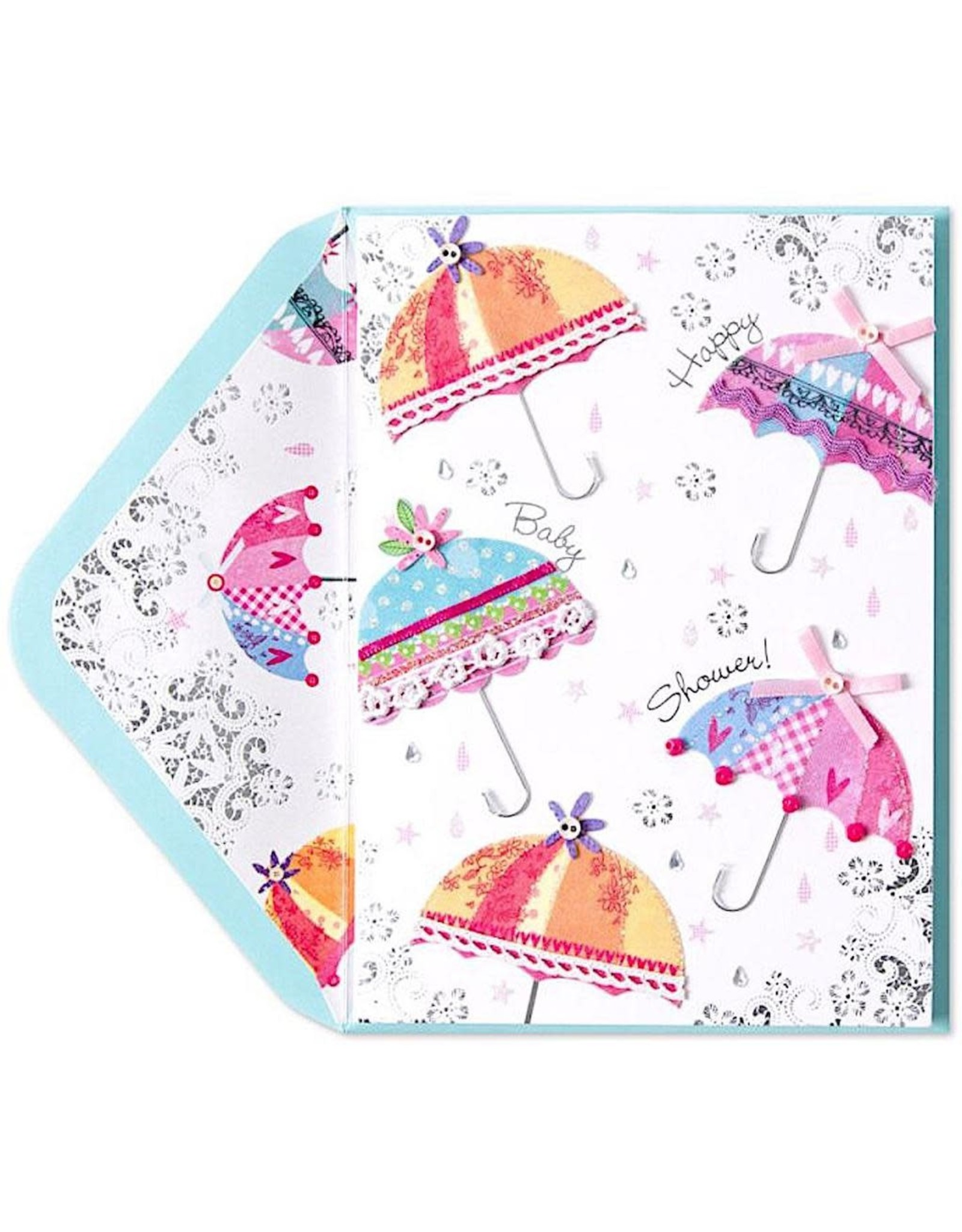 PAPYRUS® Baby Shower Card Fabric Umbrellas