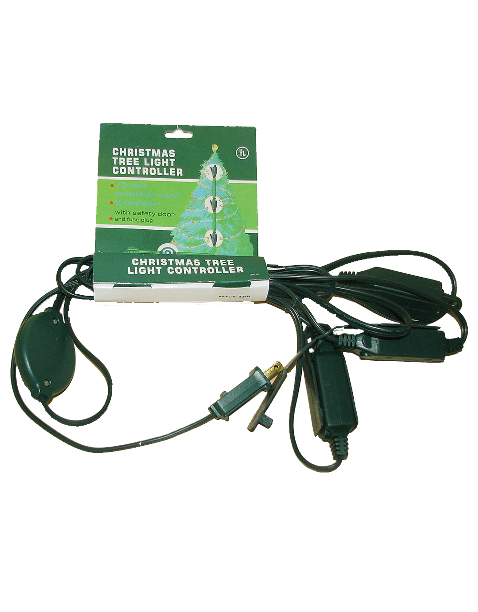 Kurt Adler 12ft Extension Cord W 9 Outlets Christmas Tree Light Controller