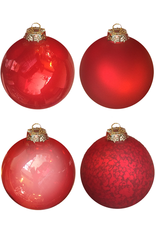 Ball Ornaments 6 inch Set of 4 RED