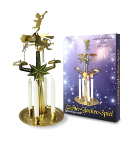 KNOX Angel Chimes And Bells Light-Bell Pyramid With 4 Candles