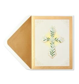 PAPYRUS® Sympathy Card Handmade Cross with Flowers