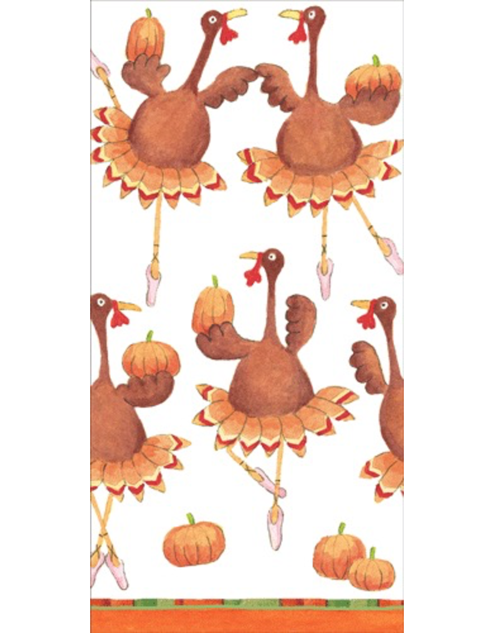 Caspari Paper Facial Tissues Package of 10 Hankies Turkey Troupe Thanksgiving