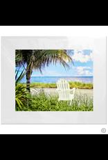 Maureen Terrien Photography Art Print Chair on Beach 11x14 - 8x10 Matted