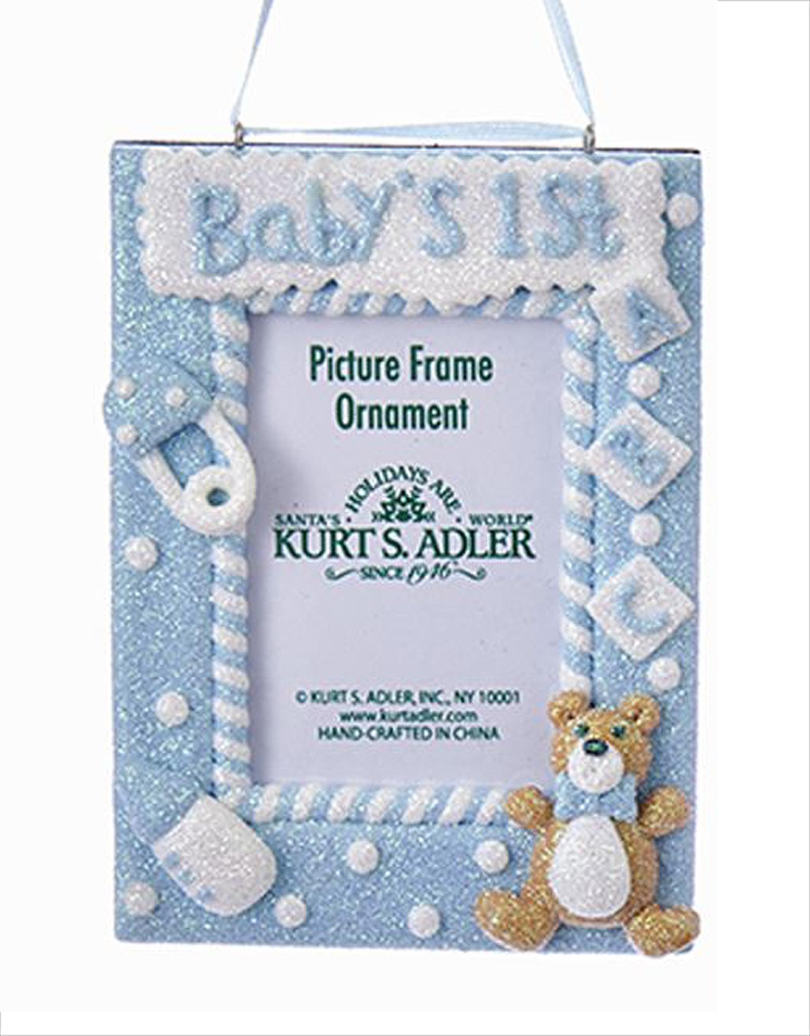 Kurt Adler Babys 1st Christmas Ornament Photo Frame