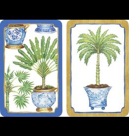 Caspari Playing Cards Bridge Cards 2 Decks - Potted Palms
