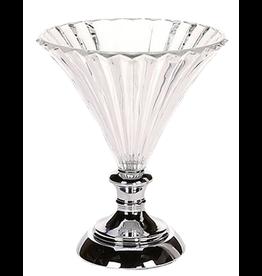 Mark Roberts Stylish Home Decor Scalloped Glass Pedestal Vase -Compote