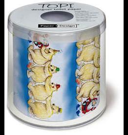 Topi Toilet Paper Christmas Toilet Paper Santa Polar Bears