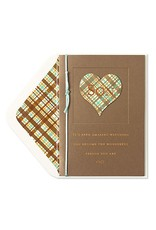 PAPYRUS® Birthday Card For Son Heart With Plaid Pattern