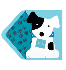 PAPYRUS® Thank You Card Dog Holding Thank You Sign