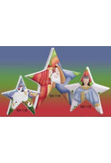 Angel Christmas Star Decoration By Kate Holmes