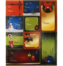 Darice Christmas Gift Tags 18 Peel n Stick with To and From