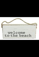 Mud Pie Beach Sign Door Hanger w Welcome to the Beach
