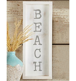 Mud Pie Small Beach House Framed Wall Plaque w BEACH