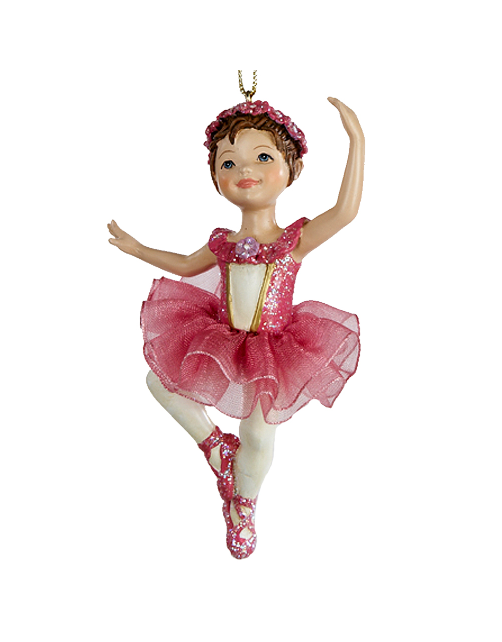 Kurt Adler Ballerina Ballet Girl Ornament Dark Pink -A