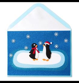 PAPYRUS® Christmas Card For Couple Two Felt Penguins