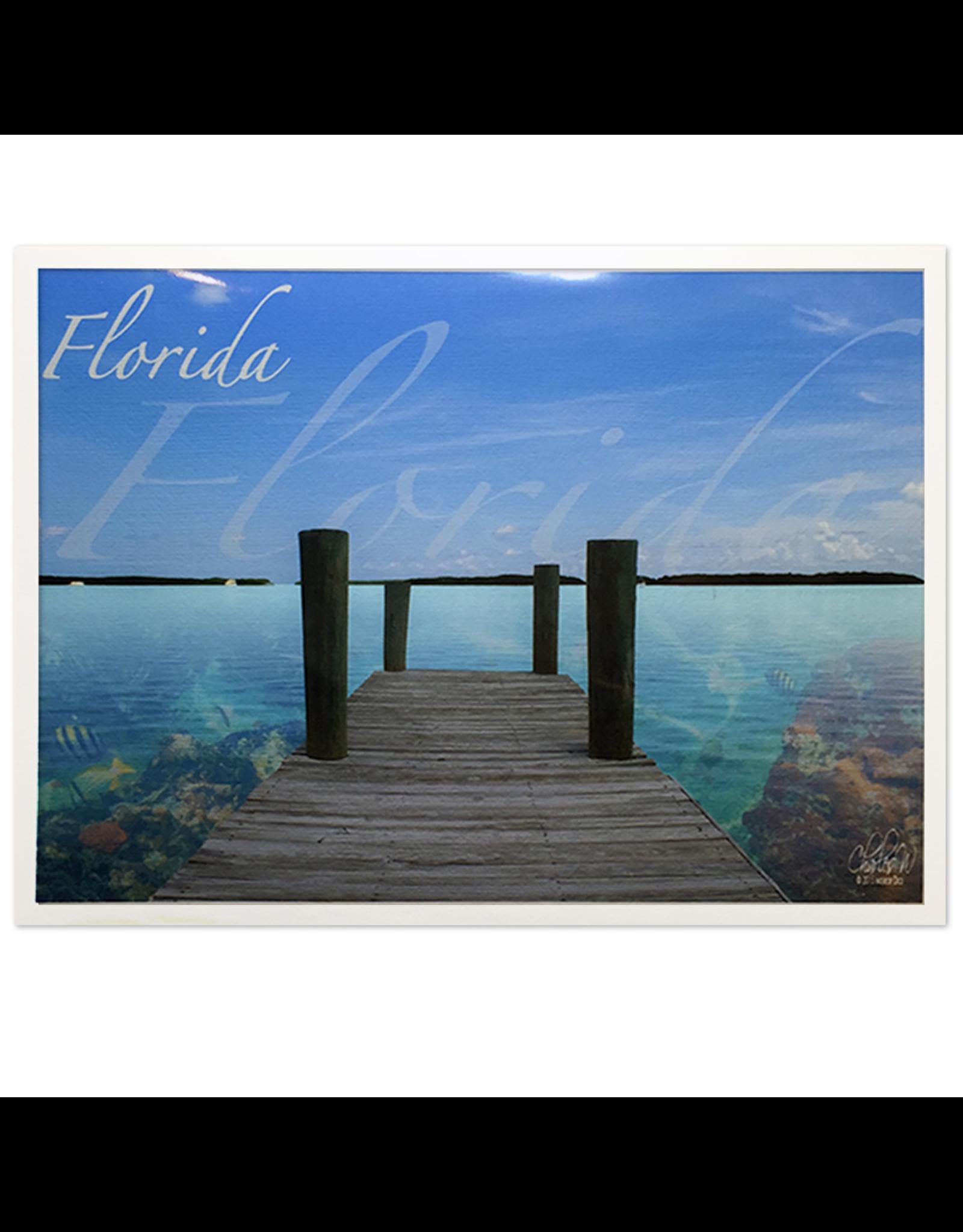 Charles W Art Greeting Card Florida Docked Florida Reef