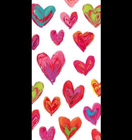 Caspari Paper Facial Tissues Package of 10 Hankies Happy Hearts