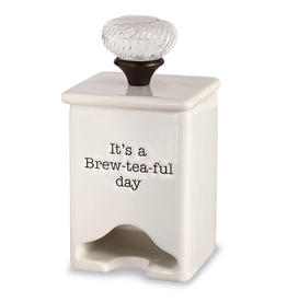Mud Pie Tea Bag Caddy With Sentiment - Its a Brew-tea-ful Day