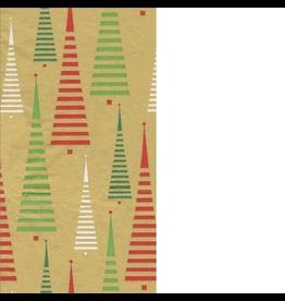 Caspari Christmas Paper Guest Napkins 15pk Trees Between The Lines